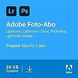 Adobe Creative Cloud Foto-Abo mit 20GB: Photoshop und Lightroom   1 Jahreslizenz   PC/Mac Online...