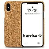 hardwrk Premium Kork Case - kompatibel mit Apple iPhone X - braun - Schutzhülle Handyhülle Cover...