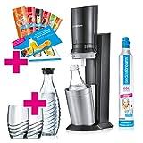 SodaStream Crystal 2.0 Wassersprudler-Set Promopack mit CO2-Zylinder, 2x Glaskaraffen, 2x...