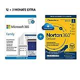 Microsoft 365 Family 12+3 Monate   6 Nutzer   Mehrere PCs/Macs, Tablets & mobile Geräte   Download...