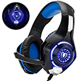Gaming Headset für PS4 PS5 PC Xbox One, LED Licht Crystal Clarity Sound Professional Kopfhörer mit...