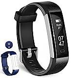 Wesoo Unisex Adult K1 Fitness Armbänder mit Ersatzband, Schwarz + Blau Bänder, Fit All People