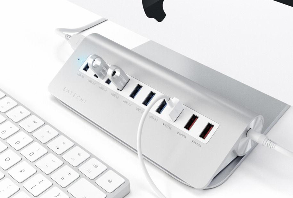 Review: Satechi 10 Port USB 3.0 Aluminium-Hub inklusive 3 Ladeports