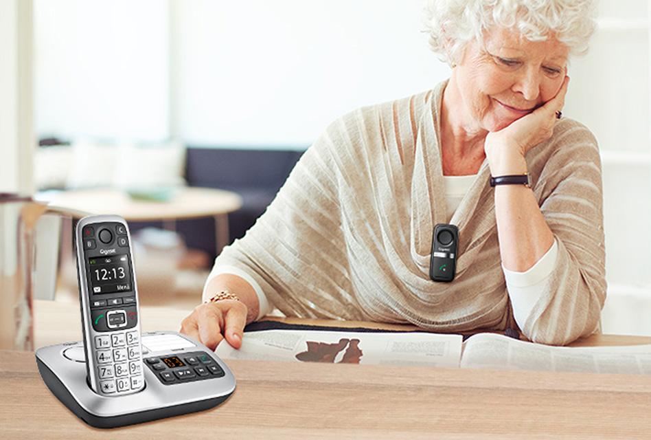 Review: Gigaset E560A – DECT-Schnurlostelefon mit großen Tasten, AB und Notruffunktion